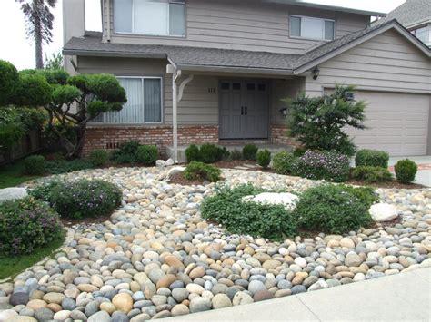 backyard pebbles smooth pebble garden