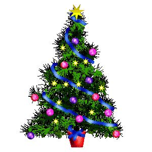 animated christmas tree clip art tree and decoration animations