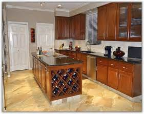kitchen cabinet with wine rack