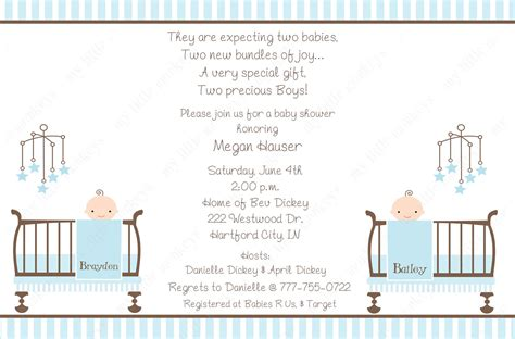 twin boys baby shower invitations theruntime com