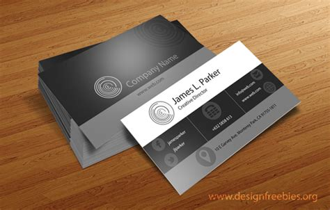psd name card template free psd templates sleek black and white business cards