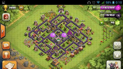 clash of clans ayuntamiento de aldea 8 thundercoc thunder clash of clans modelo de aldea
