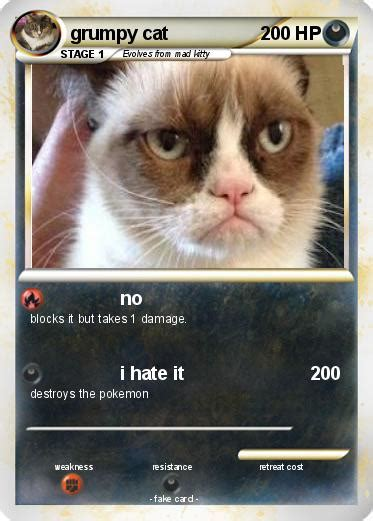 card grumpy cat pok 233 mon grumpy cat 3 3 no my card