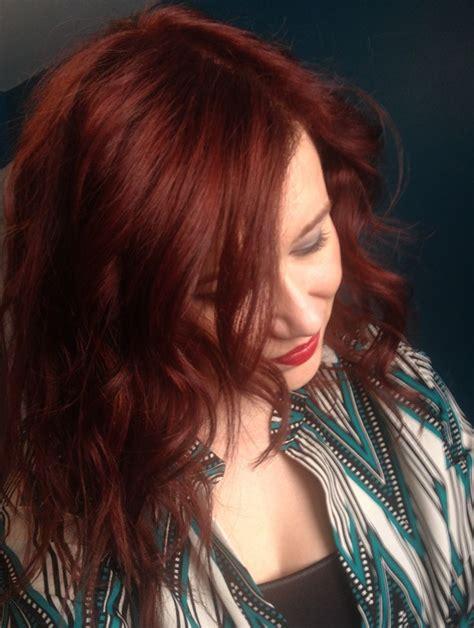 lifht auburn formula wella color charm gel red 7r red hair dye dark brown to