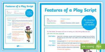 features of a play script display poster play scripts