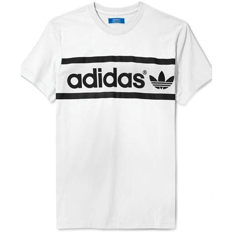 Shirt Logo Adidas lyst adidas originals heritage logo t shirt in green for
