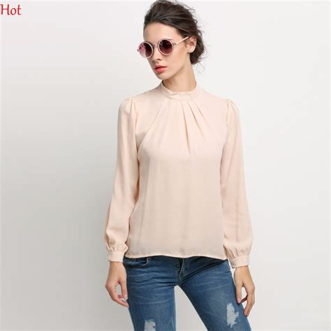 Blouse Fashion womens blouses chiffon clothing blouse shirt fashion stand collar sleeve
