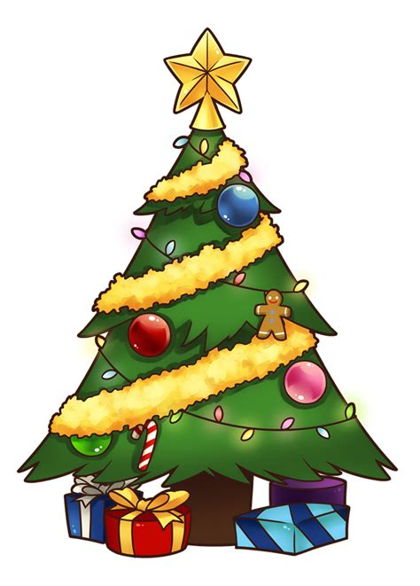 christmas tree cartoon ria9dedil public domain free tree clipart domain clip 5 cliparting