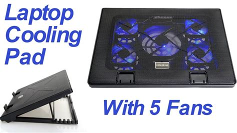Laptop Notebook Cooling Cooler Pad 4 Fan Is428 lifestyle laptop cooling pad with 5 fans and 6 angles adjustment unboxing