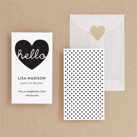 card etsy instant hello diy printable business card