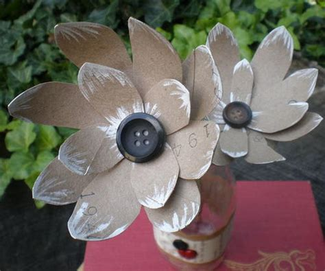 How To Make Recycled Paper Flowers - recycled diy paper flowers allfreepapercrafts