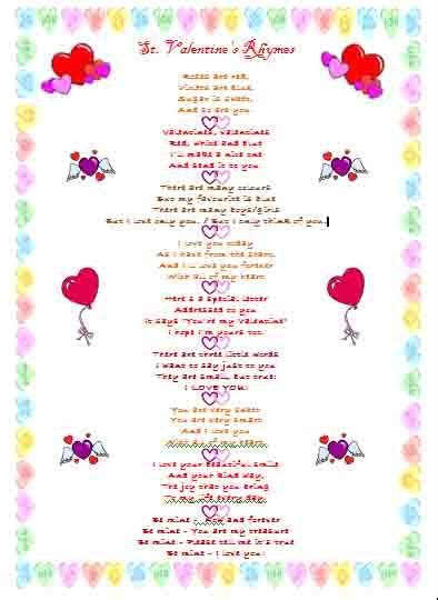 valentines rhymes st s day rhymes pinned by pediastaff
