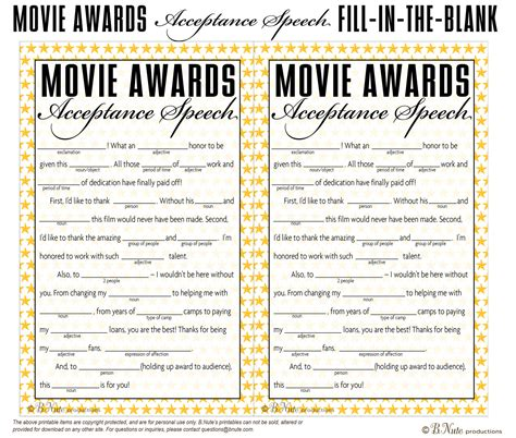 printable party games free bnute productions free printable oscar party game