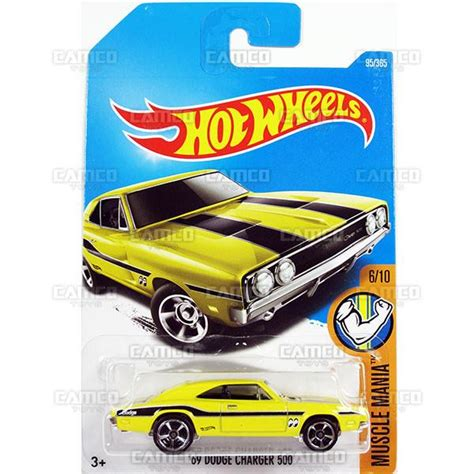 Wheels 69 Dodge Charger 500 Mania Yellow 2017 basic mainline camco toys