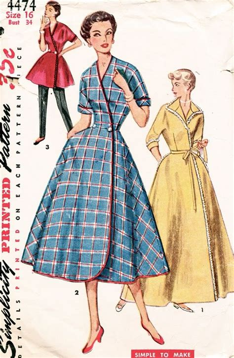 simplicity pattern history simplicity pattern 4474 vintage 50s simple to make wrap