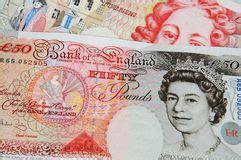 Rechnung Englisch Britisch Englisches Geld F 252 Nfzig Pfund Redaktionelles Stockbild Bild 18616719