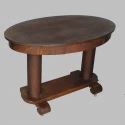 Antique Library Table by Antique Oval Oak Library Table Or Small Desk 750 00