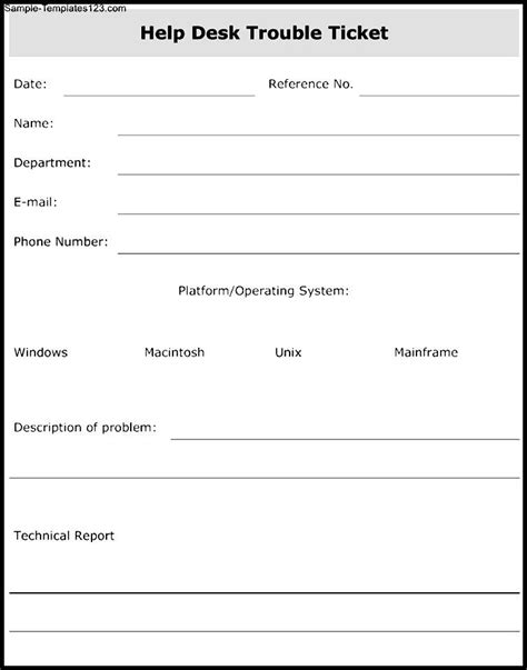 it helpdesk template help desk form template sle templates
