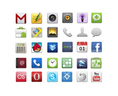 android app icons faenza icons for android app freebie psdfinder co