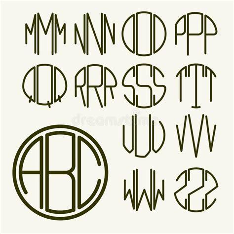 Creare Clipart Lettere Modello Per Creare Monogramma Illustrazione