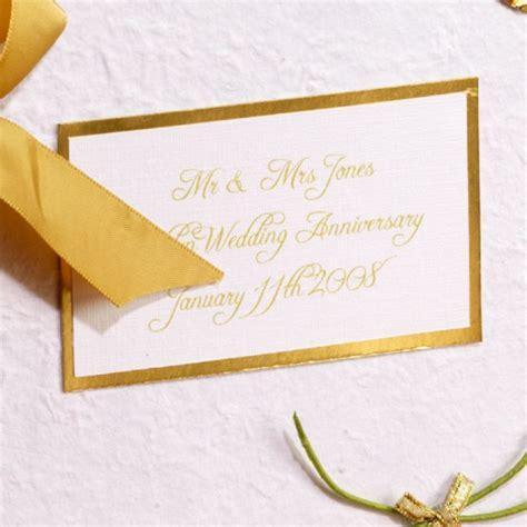 Personalised Golden Wedding Anniversary Photo Album   The