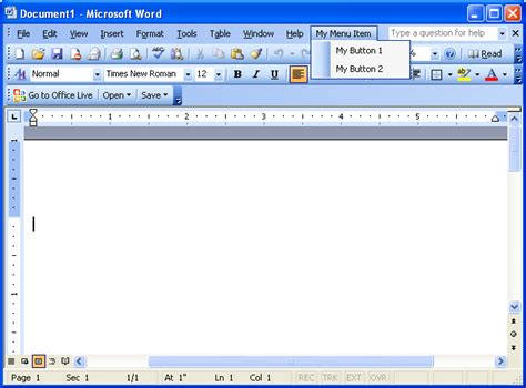 Office Word Office Live Add In And Word 2003 How To Make Them Coexist