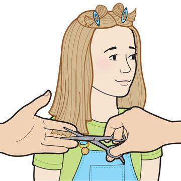 haircut cartoon girl kid s hair cut how to how to cut your kid s hair
