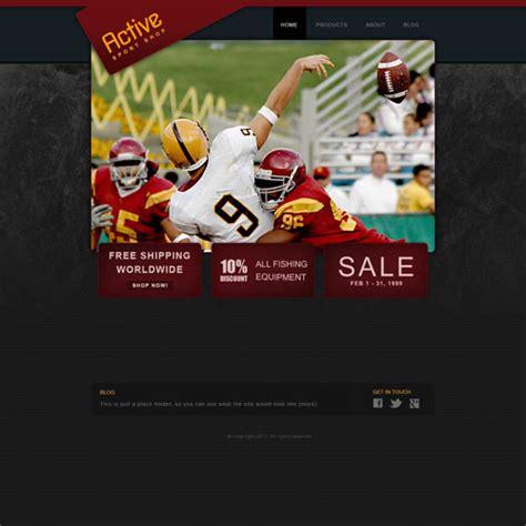 Sporting Goods Web Template Free Website Templates Sports Handicapper Website Templates