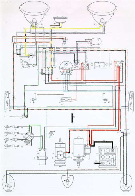 wiring diagram 69 vw beetle diagram free