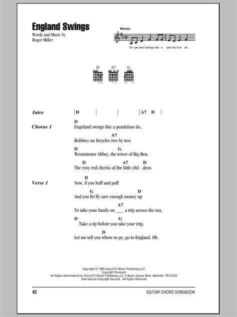 england swings lyrics england swings sheet music by roger miller lyrics