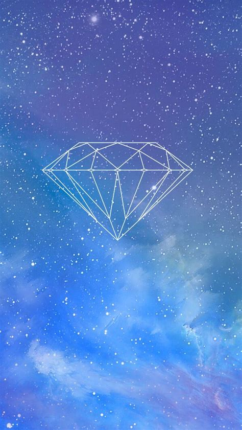 wallpaper blue diamond diamond space wallpaper for iphone wallpaper iphone 5