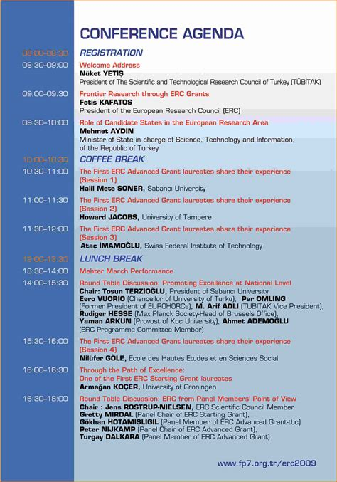 meeting itinerary template 4 conference agenda template divorce document