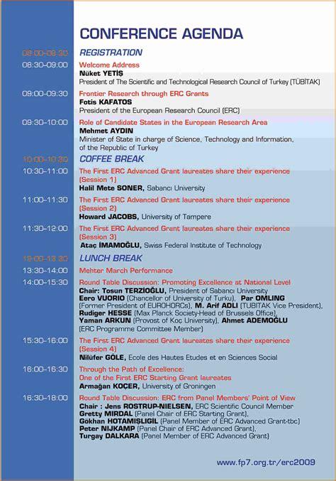 4 conference agenda template   Divorce Document