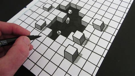 How To Make Optical Illusions On Paper - cool optical illusion cube drawing
