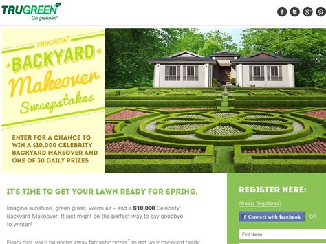 Trugreen Sweepstakes - trugreen backyard makeover sweepstakes