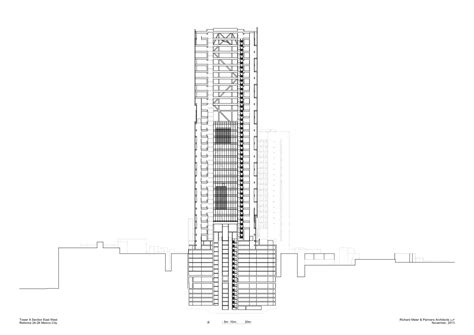section 43 b gallery of richard meier unveils 180 meter tower