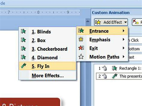 how to add animations in powerpoint 2007
