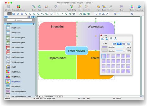 how to create a business template creating swot analysis template conceptdraw helpdesk