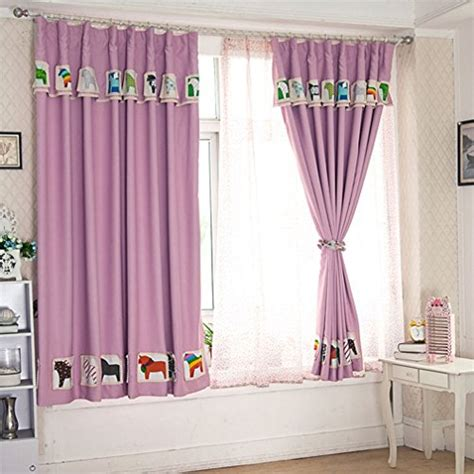 kids lilac curtains ffmode cartoon pony nursery drapes blackout curtains kids