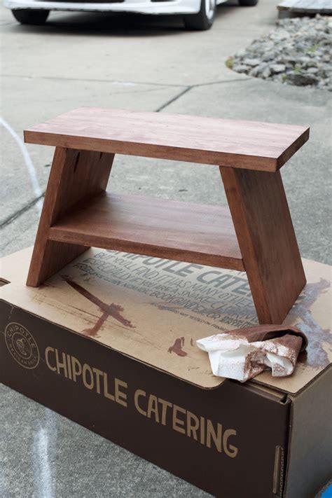 Modern Wood Step Stool diy modern step stool brepurposed