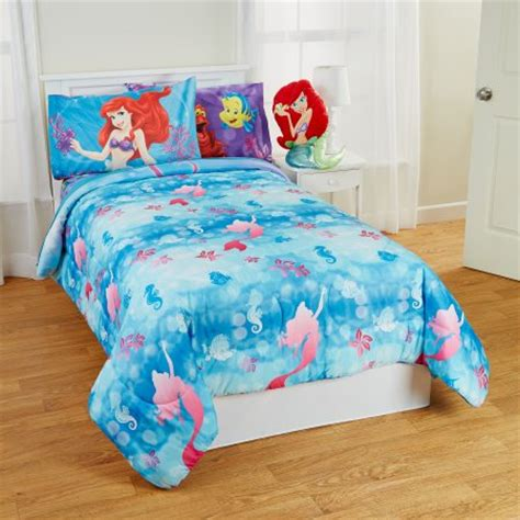 mermaid twin bedding little mermaid twin full bed comforter flower swirls blanket walmart com
