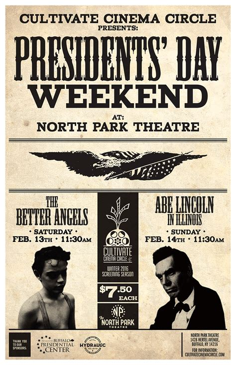 presidents weekend presidents day weekend 2016 poster cultivate cinema
