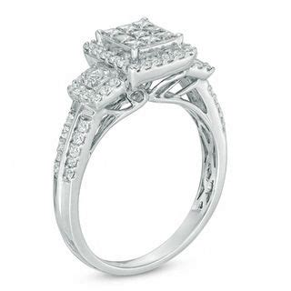3 4 ct t w princess cut composite three