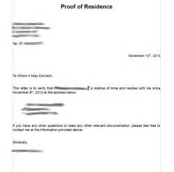 Certification Letter Proof Of Residency Search Results For Residency Verification Letter Sample