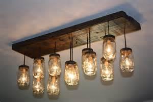 Troy Lighting Chandelier The Coming Home Custom Mason Jar Chandelier By Thehoneydew