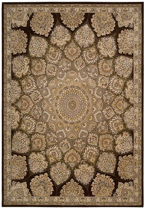 rugs with nourison 2000 2318 brown traditional area rug carpetmart