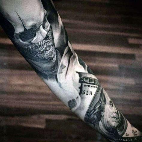 realistic tattoo creator tattoo trends realistic money forearm sleeve tattoo