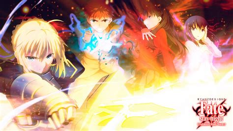 fate stay night unlimited codes side by side comparison video unlimited blade works wallpaper wallpapersafari