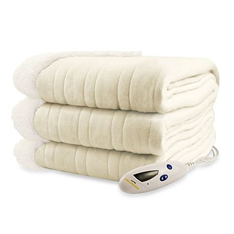 electric blanket bed bath and beyond buy biddeford blankets 174 comfort knit sherpa electric