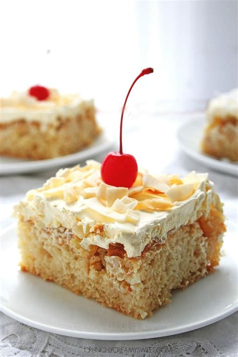 pina coconut cake recipe pina colada cake sweet and coconut on pinterest